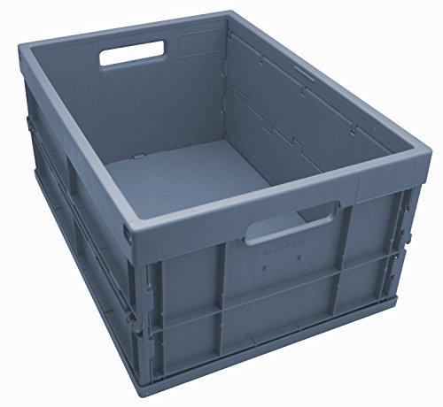 Faltbox / Klappbox FB 475/240-0, 32 liter, 475x350x240 mm (LxBxH), grau, Industriequalität