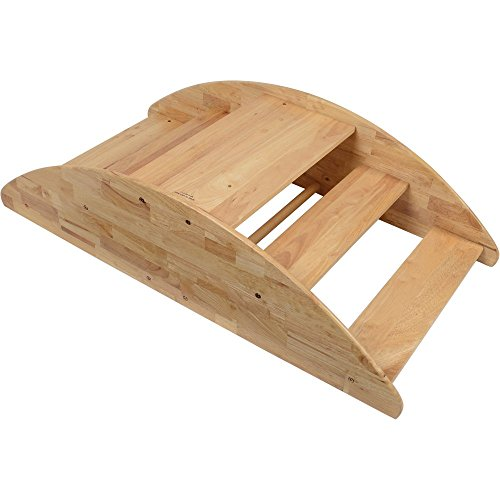 Wooden Rocking Boat - Seats up to 4 Children and Can Be Turned Over for Use as Steps
