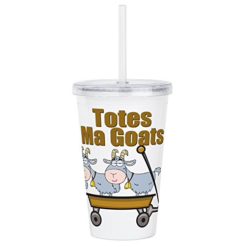 CafePress - Totes Ma Goats - Insulated Straw Cup, 20oz Acrylic Double-Wall ()