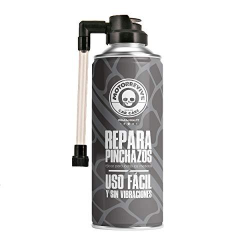 Motorrevive – Repara Pinchazos para Coche y Moto, Sella e hincha la Rueda – 500 ml