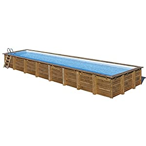 Gre 788033 Piscina con bordi Piscina rettangolare Blu, Marrone piscina fuori terra 2 spesavip