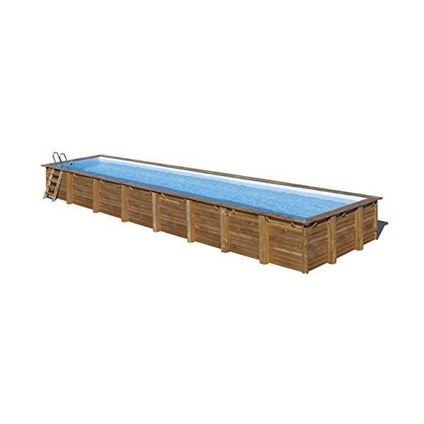 Gre 788033 Piscina con bordi Piscina rettangolare Blu, Marrone piscina fuori terra 1 spesavip