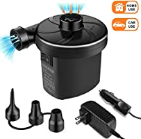 semai Electric Air Pump Portable Quick Fill Air Pump for Inflatable Couch, Air Mattress Bed,Swimming Ring, Inflatable...