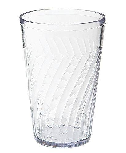 16 oz. Clear Tahiti Tumblers by, SAN Plastic GET 2216-1-CL-EC (Pack of - Tahiti Tumbler Beverage