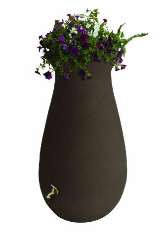 Algreen Products EcoCascata Rain Barrel 65-Gallon, Brownstone