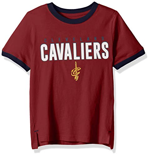 Outerstuff NBA NBA Kids & Youth Boys Cleveland Cavaliers Key Short Sleeve Fashion Tee, Burgundy, Youth -