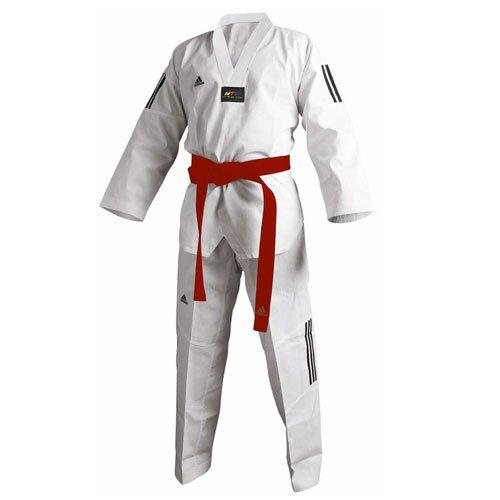 adidas Taekwondoanzug Adi Club 3, weißes Revers 210 cm