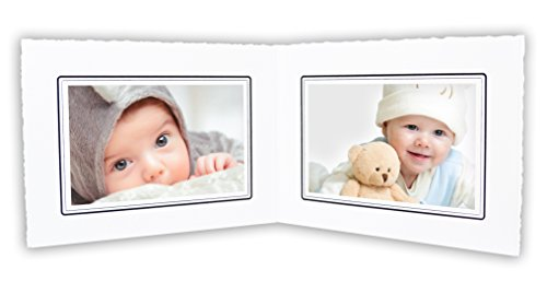 Golden State Art, Cardboard Photo Folder For Double 6x4 Photo (Pack of 50) GS003 White Color by Golden State Art