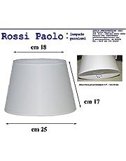 Prime paralume coprilampada tronco cono d25 in tessuto avorio e PVC - produzione propria - made in Italy