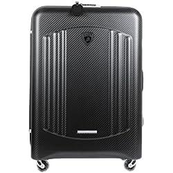 Automobili Lamborghini Accessories Carbon Fibre Bynomio Hold Suitcase Maxi One Size Black
