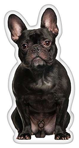 iLeesh French Bulldog Black Shaped Pillow (French Gifts Online)