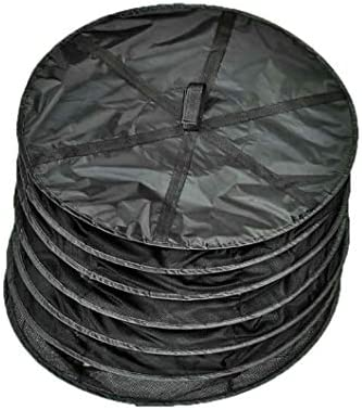 Herb Drying Rack Net Dryer 6 Layer 2ft Black W Green Zippers Mesh Hydroponics Mesh Collapsible Hanging Dryer Net Lights Carrying Case Indoor /& Outdoor