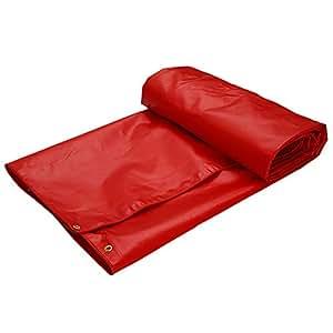DYFYMXOutdoor Equipment Waterproof Tarpaulin Thick Tarpaulin Tent Rainproof Tarpaulin @ (Color : Red, Size : 3×3m)