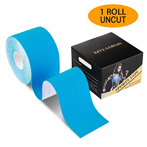 - Laneco Kinesiology Tape (19.7ft Uncut Per Roll), Latex Free Physio Tape, Breathable, Water Resistant Sports Tape for Muscles & Joints, Pain Relief and Injury Recovery, Free Taping Guide