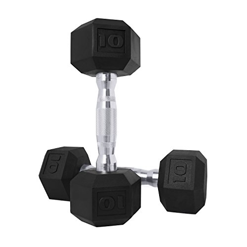CAP Barbell SDPP-020 Color Coated Hex Dumbbell, 10 lb Pair