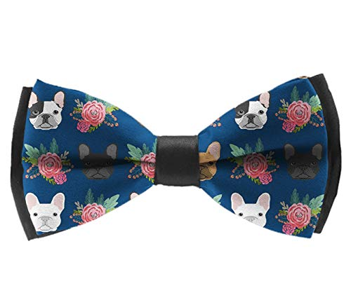 L Wright-King Men French Bulldog Flowers Bow Tie Party Banquet Bowtie Wedding Accessories
