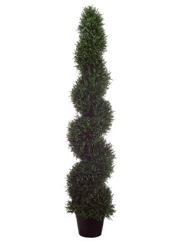 Tori Home Rosemary Spiral Plant Round Topiary in Pot by Tori Home