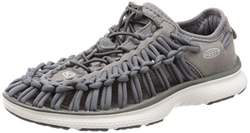 KEEN Women's Uneek O2-W Sandal, Steel Grey/Vapor, 5 M (Sandals Shoes Com)