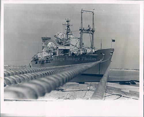 Vintage Photos 1963 Press Photo US Air Force Ship General Arnold Port Canaveral Festivity 8X10