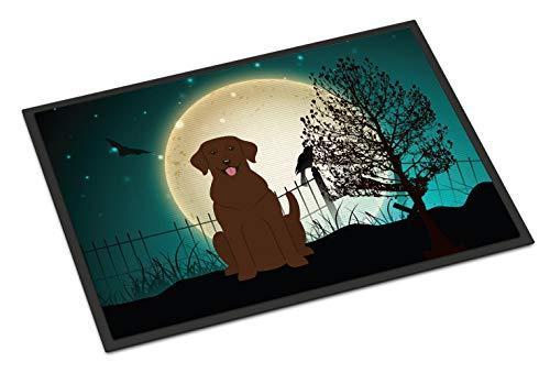Caroline's Treasures Halloween Scary Chocolate Labrador Indoor or Outdoor Mat 24x36 BB2246JMAT 24 x 36