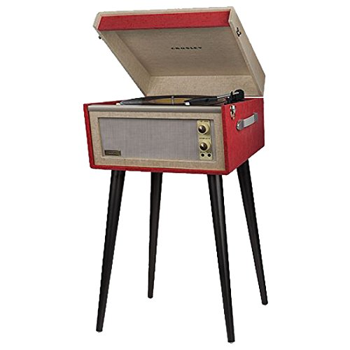 Crosley CR6233A-RE Dansette Bermuda Portable Turntable with Aux-In