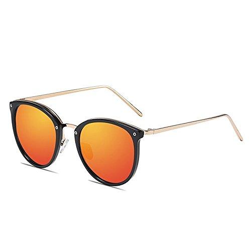 Uv400 Gafas Dazzle Black Playa Fiesta frame de LANZHI Sakura 6 Personalidad orange Moda Color Mujer Sol Polarizer Pink Clásica Senderismo Conducción qdZAnfw