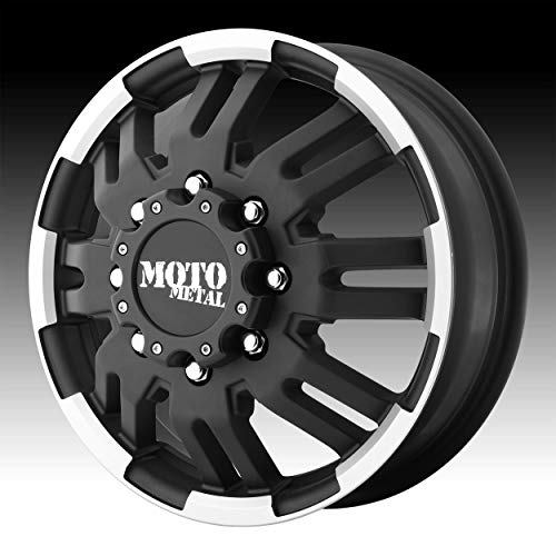 Moto Metal MO963 Matte Black Dually Outer Wheel With Machined Accents (16x6
