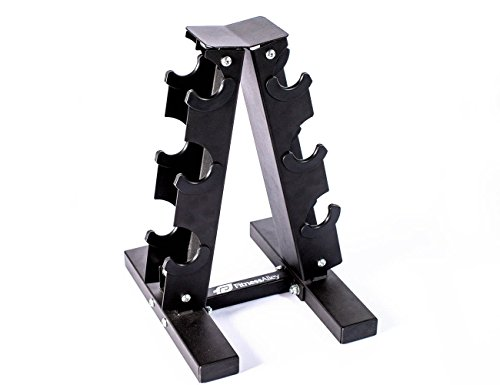Fitness Alley Steel Dumbbell Rack - 3 Tier Weight Holder & 3 Tier Weight Rack Dumbbell Stand - Dumbbell Holder - Dumbbell Rack Stand - Weight Racks for Dumbbells of All Sizes by Fitness Alley (Image #5)