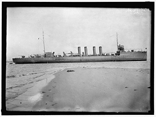 24 x 18 Art Canvas Wrapped Framed Print of Paulding. Torpedo Boat Destroyer, U.S.N. 1914 Harris & Ewing 46a