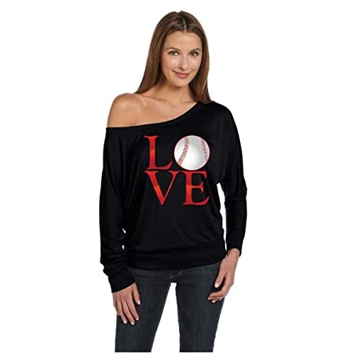 cb13b842d Love Baseball Mom Sport Game Jesery Off The Shoulder Top T-Shirt hot sale  2017