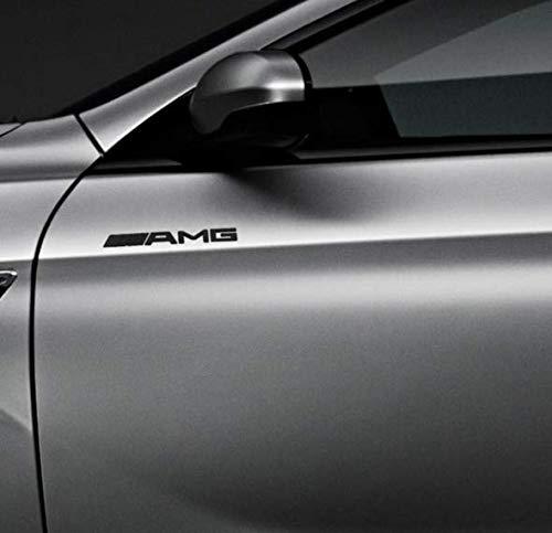 Negro Mate 190mm AMG Trasero Boot Lid Tailgate Trunk Badge Emblema para AMG C63 E63 S63 ML63 SL63 SL55 CLK