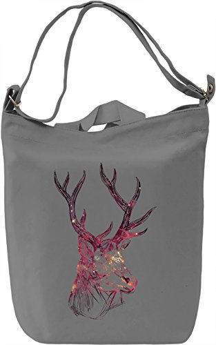 Galaxy Deer Borsa Giornaliera Canvas Canvas Day Bag| 100% Premium Cotton Canvas| DTG Printing|
