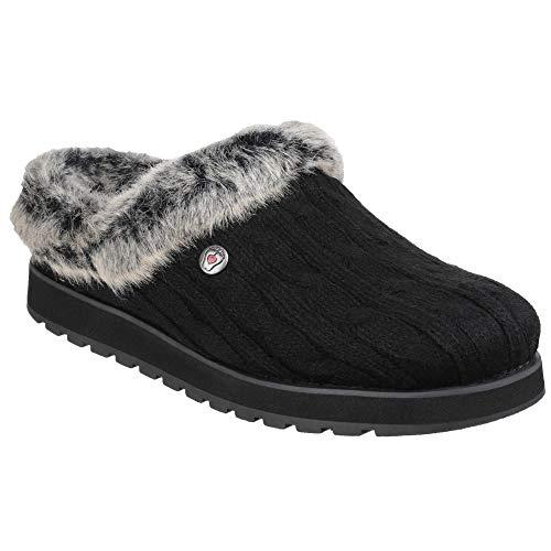 (Skechers Womens/Ladies Keepsakes Ice Angel Slip On Mule Slippers (10 US, Black))
