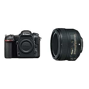 Nikon D500 DX-Format Digital SLR Portrait and Prime Photography Lens Kit