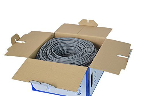 VIVO Gray 500ft Bulk Cat6, CCA Ethernet Cable, 23 AWG, UTP Pull Box, Cat-6 Wire, Indoor, Network Installations CABLE-V006 2 Cable Type - Cat6 bulk ethernet cable, 500ft roll, connector free. Suitable for Fast, Gigabit, and 10-Gigabit Ethernet Material - Solid CCA (Copper Clad Aluminum) 23 AWG Solid UTP - (4-pair unshielded twisted pair) cables for economic use