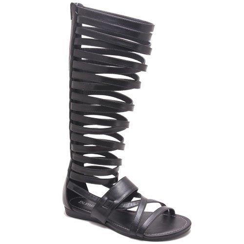 Bumper Women's Lory-63 Gladiator Sandals,Black,7