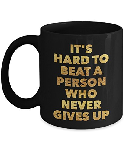Beat Up Face Costume (It's hard to beat a person who never gives up - Motivational - 11oz Coffee Mug - Gift Idea)
