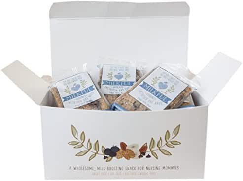 MILKFUL Lactation Bars, wholesome & delicious snack to increase breast milk supply. 12 Bars. (Dairy Free, Egg Free, Soy Free, Wheat Free) (Blueberry Almond Coconut)