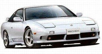 Diecast Import Cars - 1/24 '96 Nissan 180SX Type-X by Fujimi