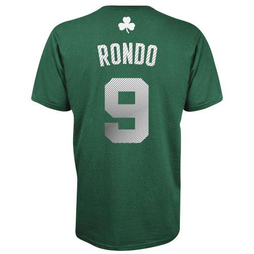 Rajon Rondo Boston Celtics Radiant Green Jersey Name and Number T-Shirt XX-Large