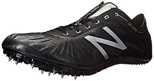 New Balance Mens SD200V1 Track Spike Shoe, Negro/Plateado, 37.5 EU/4.5 UK