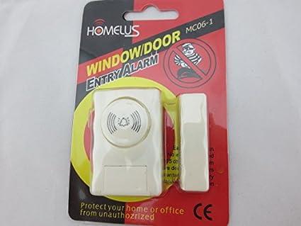 BW imán ajuste de alarma para puerta y ventana, color blanco ...
