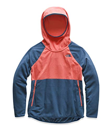 The North Face Women's Glacier Alpine Pullover Spiced Coral/Blue Wing Teal Large