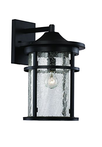 Trans Globe Lighting 40381 BK Outdoor Avalon 14.5'' Wall Lantern, Black by Trans Globe Lighting
