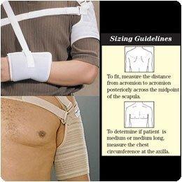 Hemi Sling Arm (Rolyan Custom Hemi Arm Sling Left Cuff, Size: Small, Bicep Cir.: 10