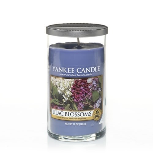 Yankee Candle Lilac Blossoms Medium Perfect Pillar Candle, F