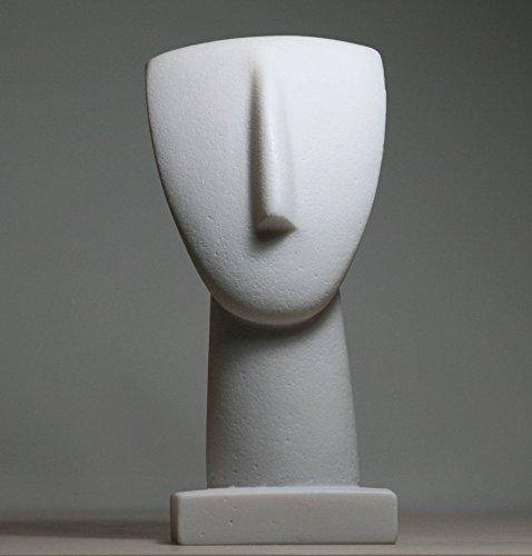 greekartshop Head of Cycladic Figurine Idol Greek Modern Art Statue Sculpture Museum -