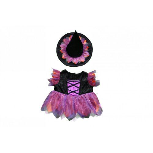 Halloween Witch Custome Teddy Bear Clothes Outfit Fits Most 14