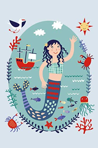 Nautical Dessert Ideas (Notes: A Blank Sketchbook with Dark Haired Mermaid Nautical Cover)