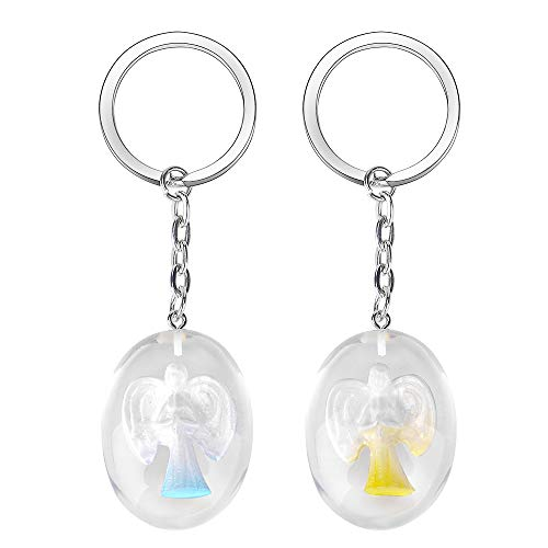 Angel Keychain, Keychains for Women Girls【2 Pack】Key Chains for Securing Keys Decorate Purses Backpacks and Other Wonderful Objects